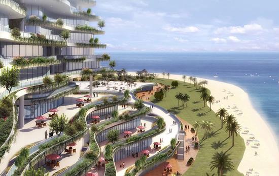 碧桂园森林城市海边风景
